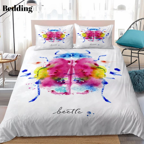 Image of Color Beetle Halo Patterns Bedding Set - Beddingify