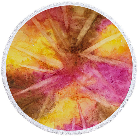 Image of Dusty Color Round Beach Towel Set - Beddingify