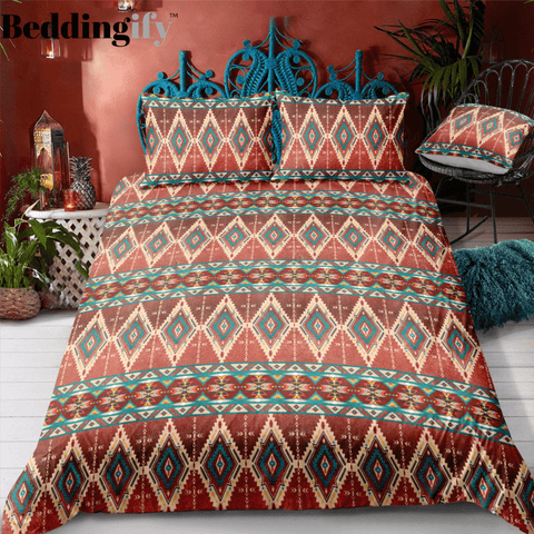 Indian inspired - Cherokee Aztec Bedding Set - Beddingify