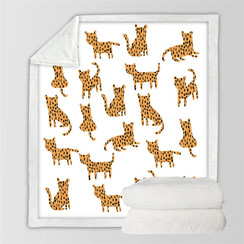 Kid Cheetah Themed SWMT2510 Sherpa Fleece Blanket