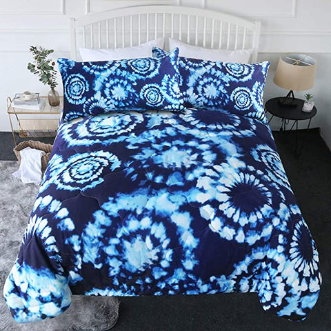 4 Pieces Frost Rings Comforter Set - Beddingify