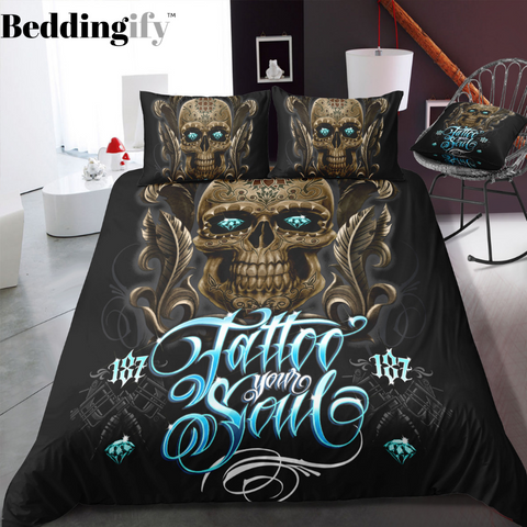 C7 Skull Bedding Set - Beddingify