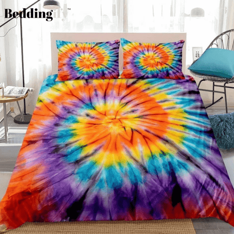Image of Tie-dyed Colorful Paintings Bedding Set - Beddingify