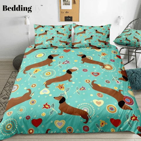 Image of Dachshunds  Bedding Set - Beddingify