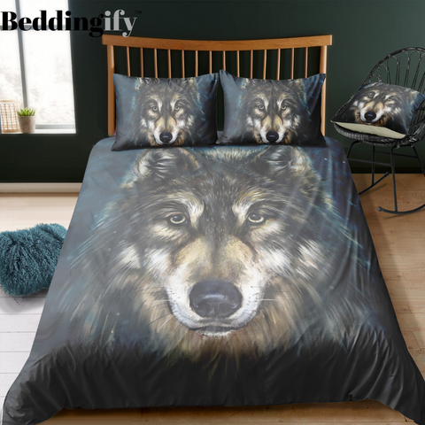 The Old Mystic Wolf Bedding Set