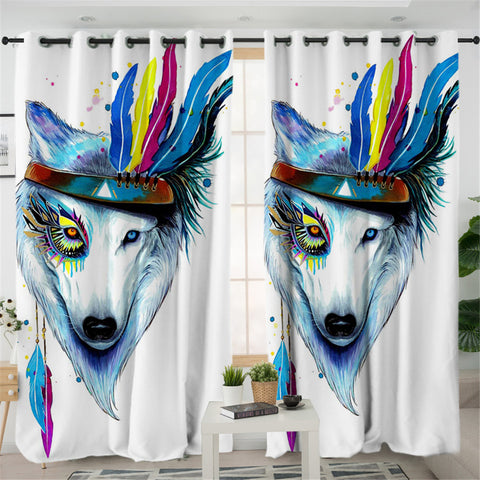 Warchief Wolf 2 Panel Curtains