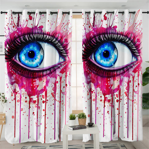 Image of 3D Eye 2 Panel Curtains