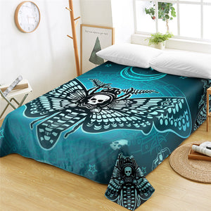 Aztec Moth Flat Sheet - Beddingify