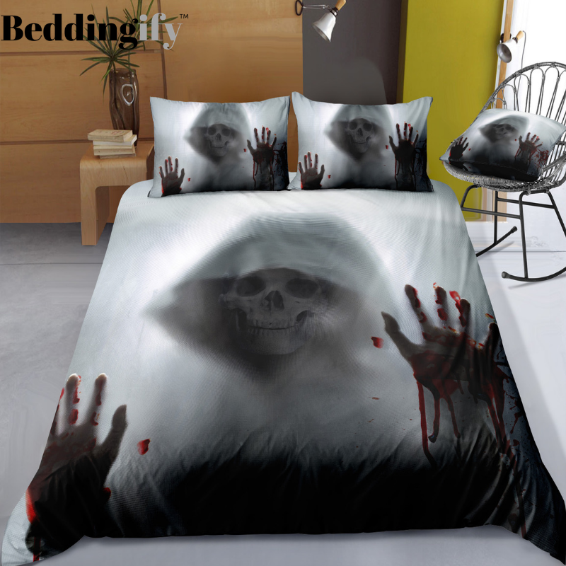 D2 Skull Bedding Set - Beddingify
