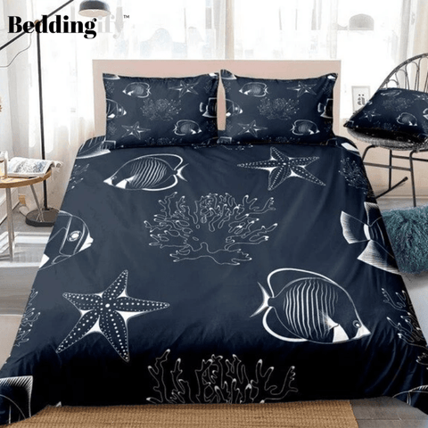 Image of Coral Sea Starfish Bedding Set - Beddingify