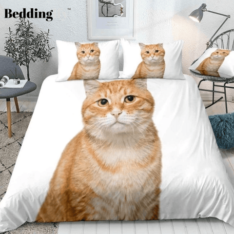 Image of 3D Cute Cat Bedding Set
