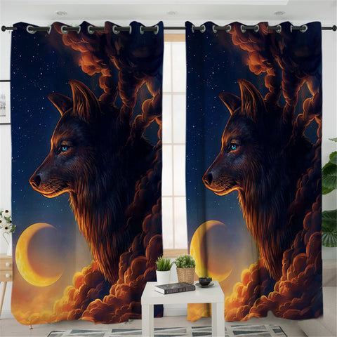 Eclipse Smoky Wolf 2 Panel Curtains