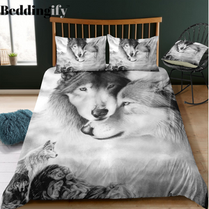 Wolves Family Bedding Set