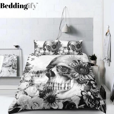 D3 Skull Bedding Set - Beddingify