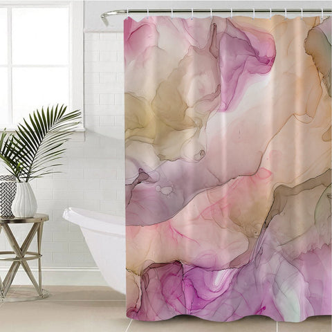 Image of Faded Marble Pastel Shower Curtain