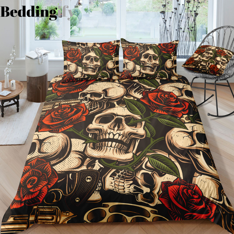 D4 Skull Bedding Set - Beddingify