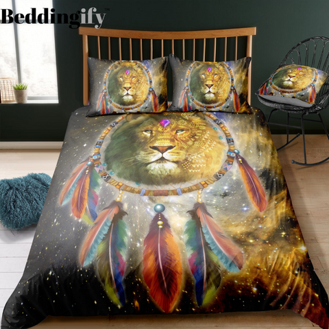 Tribal Dreamcatcher Lion Bedding Set