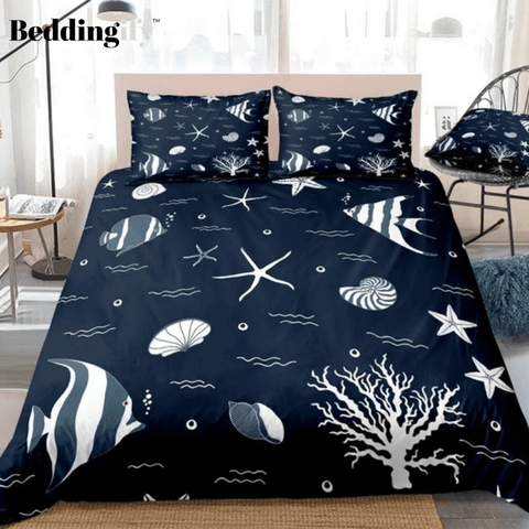 Image of Starfish Ocean Wave Fish Bedding Set - Beddingify