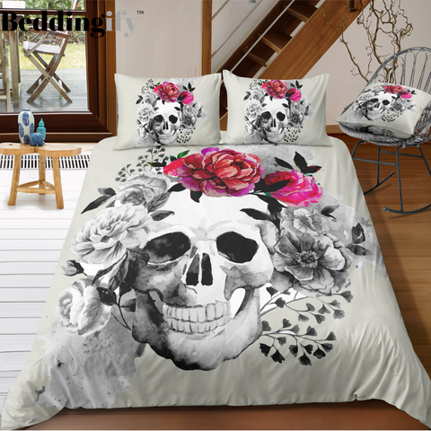 D5 Skull Bedding Set - Beddingify