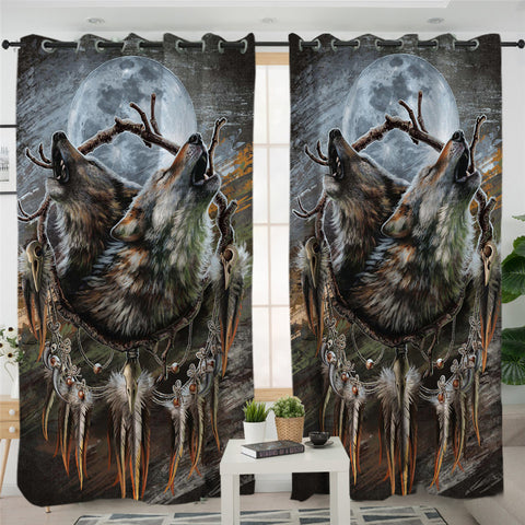 Image of Duo Wolfhowl 2 Panel Curtains