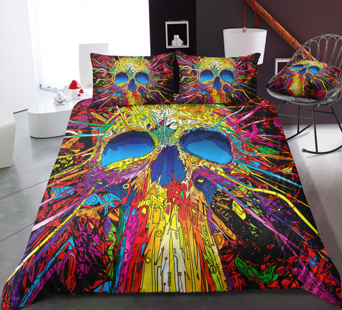 A4 Skull Bedding Set