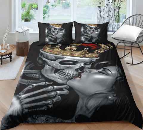 B4 Skull Bedding Set