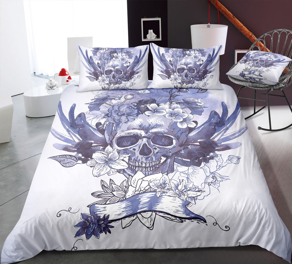 B7 Skull Bedding Set