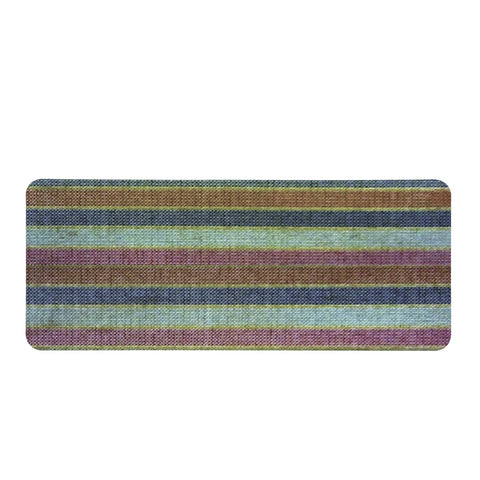 Multicolor Linear Grunge Rectangular Doormat