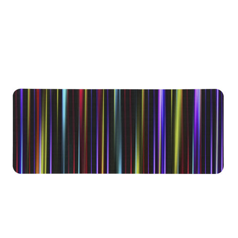 Multicolor Striped Print Design Rectangular Doormat