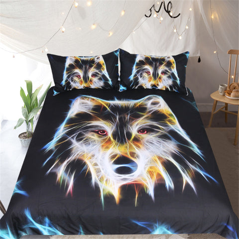 Image of 3D Wolf Head Bedding Set - Beddingify