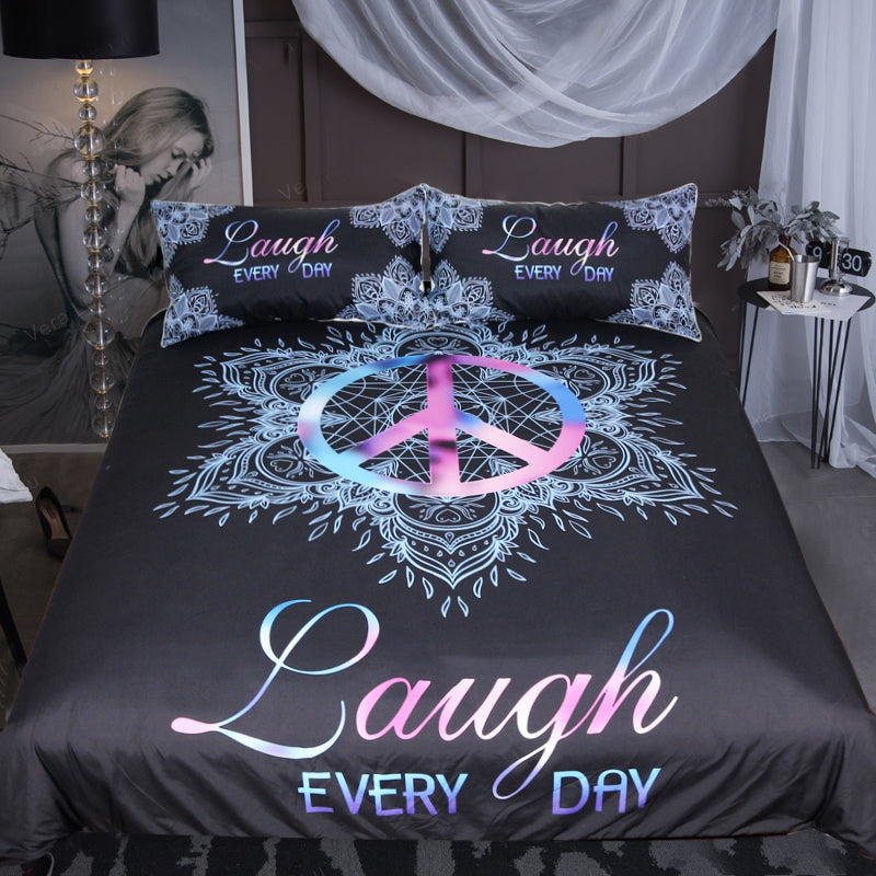 Peace Symbol Bedding Set - Beddingify