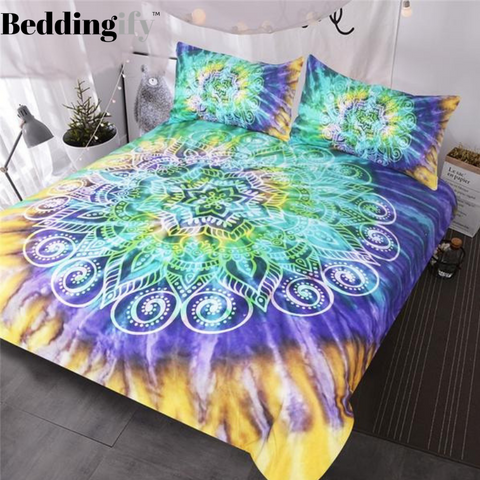 Lotus Tie Dye Mandala Bedding Set - Beddingify