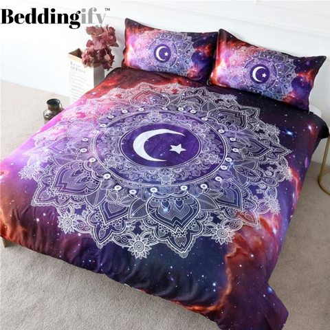 Outer Space Mandala Bedding Set - Beddingify
