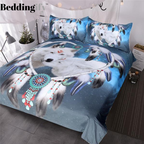 Native American Wolf Dreamcatcher Bedding Set