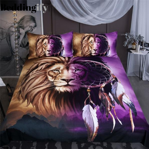 Image of Lion Dreamcatcher Bedding Set - Beddingify