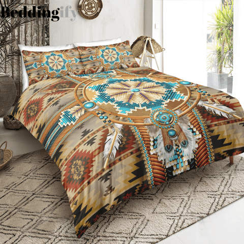 Image of Indian inspired - Cherokee Pattern Bedding Set - Beddingify