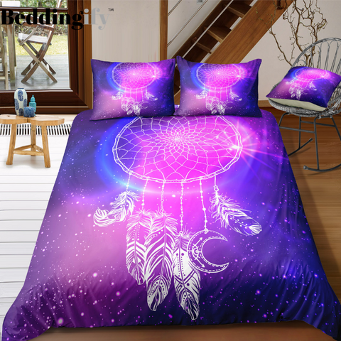 Image of Galaxy Dreamcatcher Bedding Set - Beddingify