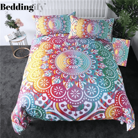 Rainbow Mandala Bedding Set - Beddingify