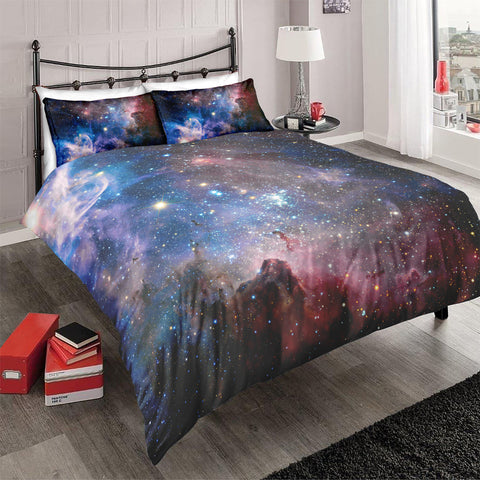 Black Purple Galaxy Bedding Set - Beddingify