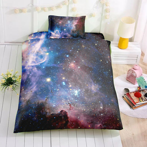 Image of Black Purple Galaxy Bedding Set - Beddingify