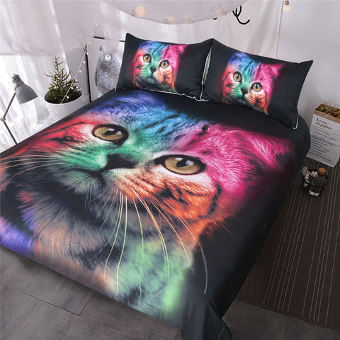 Colorful Cat Bedding Set - Beddingify