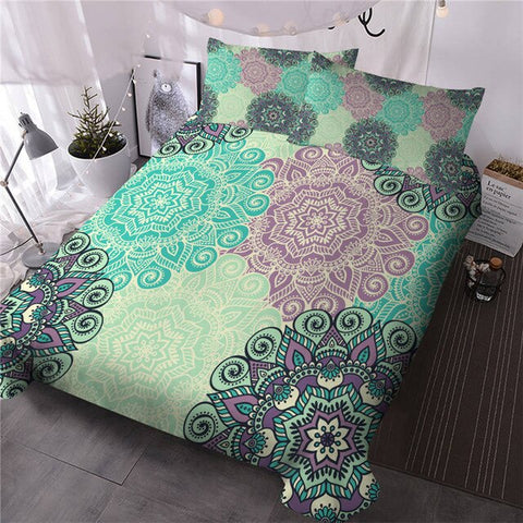 Image of Flower Bohemian Bedding Set - Beddingify