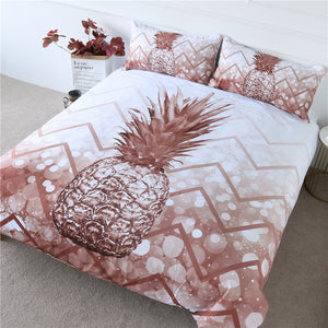 Geometric Pineapple Bedding Set - Beddingify