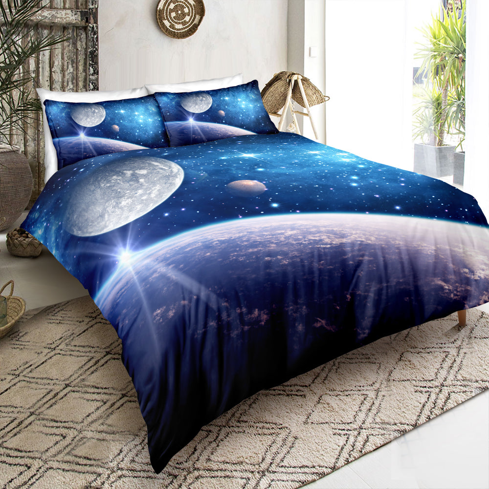 Blue Universe Bedding Set - Beddingify