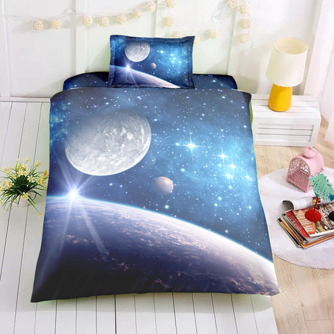 Image of Blue Universe Bedding Set - Beddingify