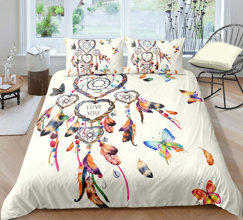 Butterflies Dreamcatcher Bedding Set - Beddingify