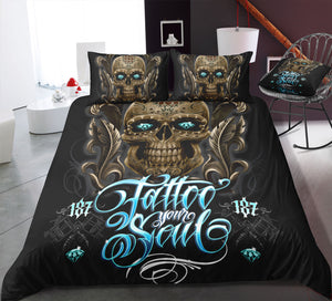 C7 Skull Bedding Set