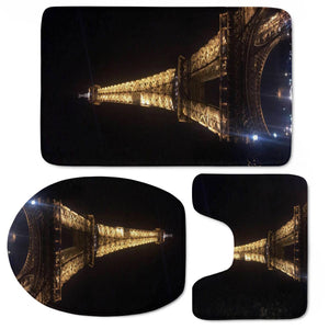 Tour Eiffel Paris Nuit Toilet Three Pieces Set