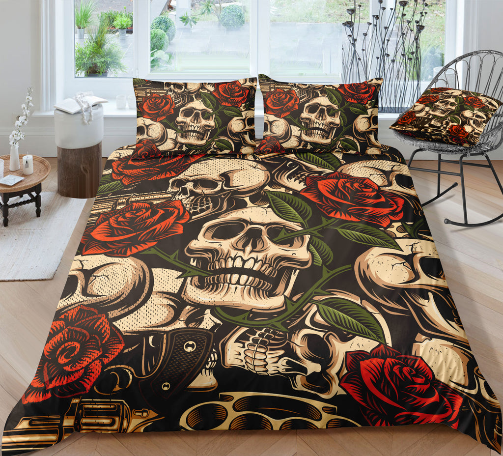 D4 Skull Bedding Set