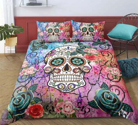 Image of D6 Skull Bedding Set